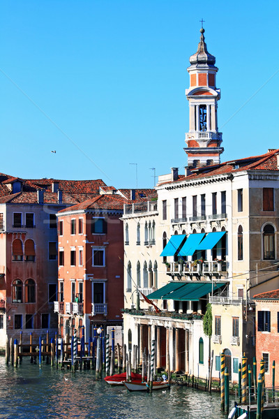 Clock Tower in Grand canal Venice, Italy