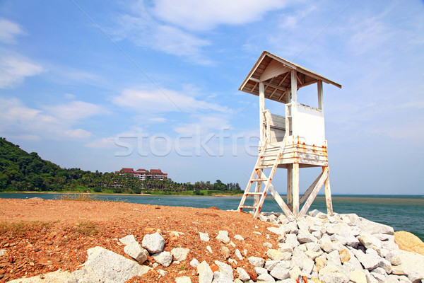 guard Tower at beach Stock photo © vichie81
