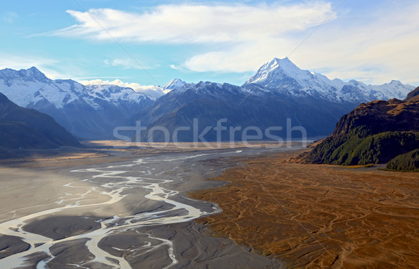 Mountain Cook Landscape New Zealand Stock photo © vichie81