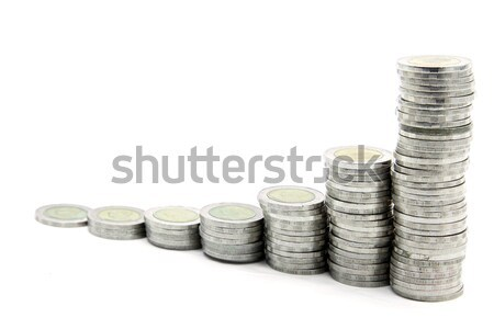 Scale abbondanza passo soldi monete spirale Foto d'archivio © vichie81