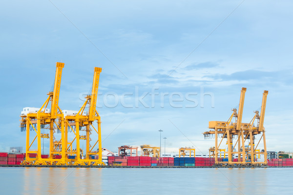 Industrial Port logistic Stock photo © vichie81