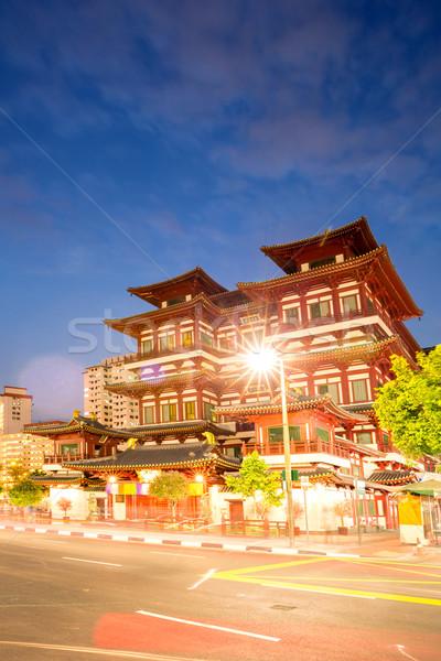 Singapore buddha tooth relic temple Stock photo © vichie81