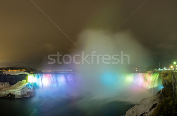 Niagara Falls at night Panorama Stock photo © vichie81