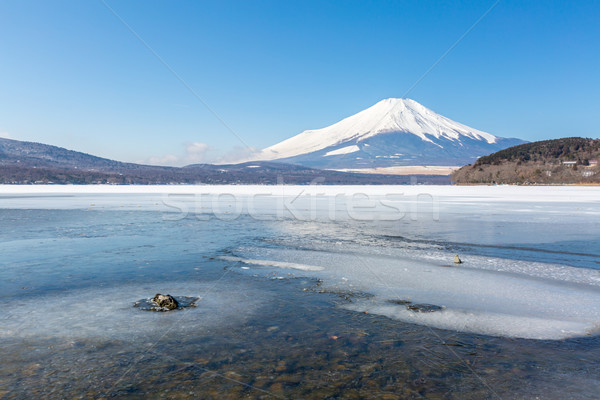 Mount Fuji Iced Yamanaka Lake Stock photo © vichie81