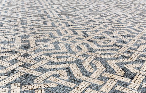Foto stock: Telha · tijolo · piso · Lisboa · cidade · praça