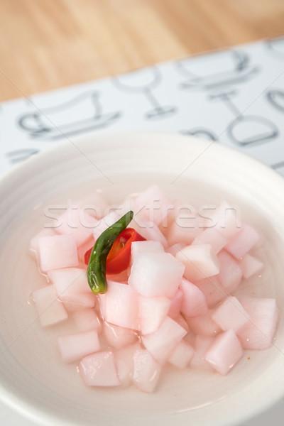 Turp meze gıda biber pişirmek Asya Stok fotoğraf © vichie81