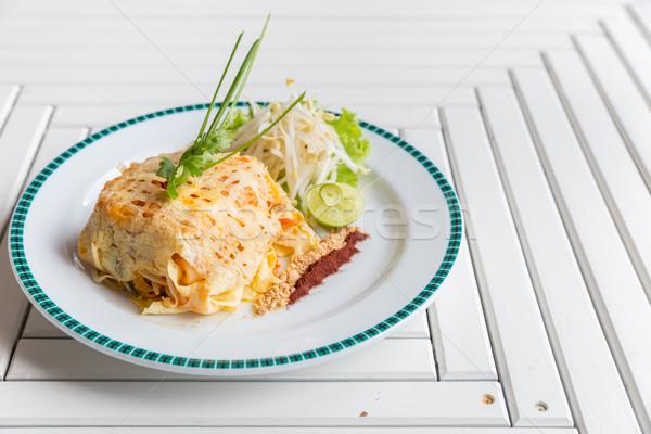 Сток-фото: тайский · жареный · риса · кухня