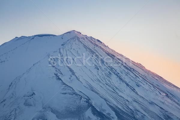 Foto stock: Montanha · fuji · ver · lago · pôr · do · sol · paisagem