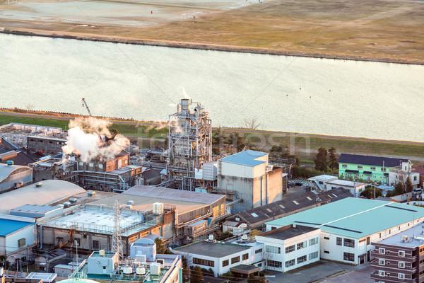 Benzine industriële luchtfoto fabriek energie plant Stockfoto © vichie81