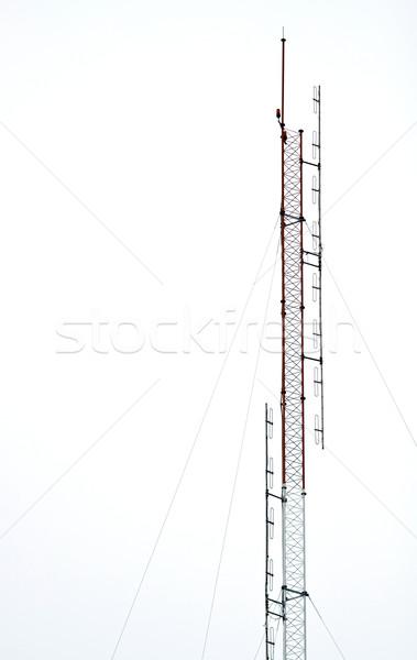 радио антенна изолированный белый небе Сток-фото © vichie81