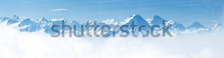 Panorama of Snow Mountain Landscape Alps Stock photo © vichie81