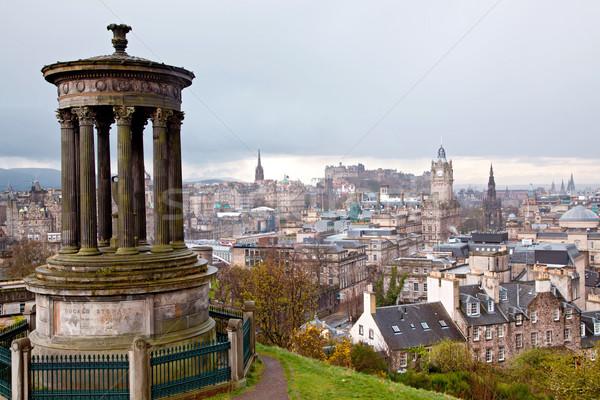 Calton Hill Edinburgh Scotland Stock photo © vichie81