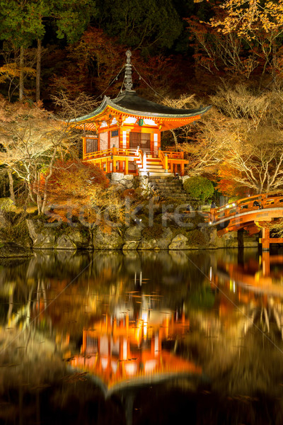 Daigoji Temple Night Kyoto Japan Stock photo © vichie81