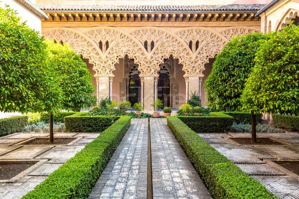 moorish garden Zaragoza Spain Stock photo © vichie81
