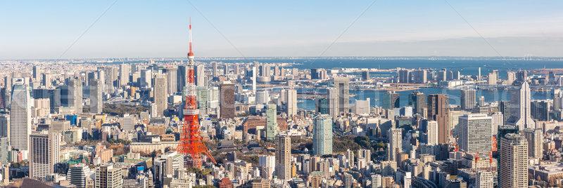 Tóquio torre linha do horizonte Japão panorama cidade Foto stock © vichie81
