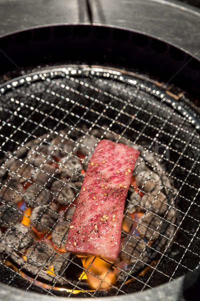 Grelhado lombo de vaca carne frescura japonês churrasco Foto stock © vichie81
