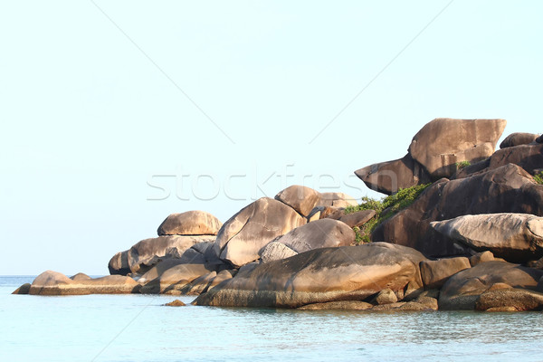 Stock photo: snoopy rock