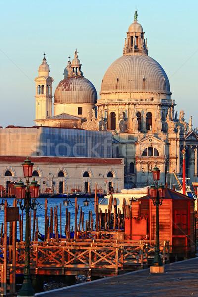 Santa Maria Della Salute, Church of Health, Grand canel Venice Italy in the morning, Vertical Stock photo © vichie81