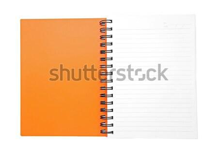 isolated open orange ring binding book Stock photo © vichie81