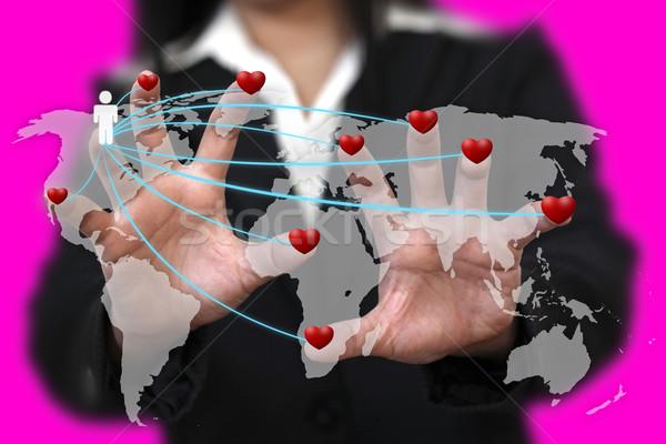Miłości około świat kobieta strony odnaleźć Zdjęcia stock © vichie81