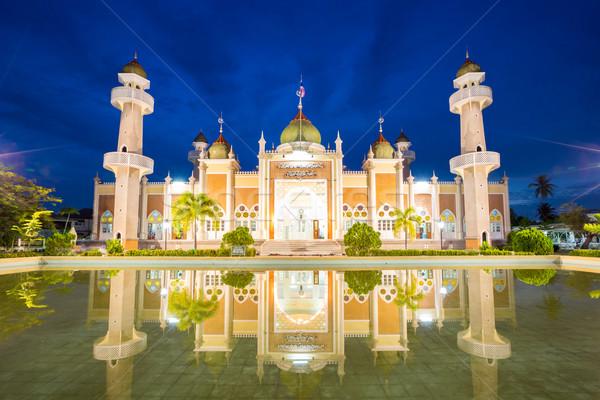 центральный мечети отражение сумерки мнение пруд Сток-фото © vichie81