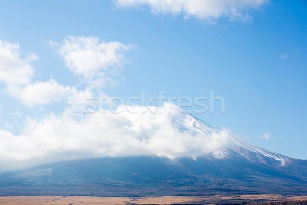 Fuji montanha lago céu paisagem neve Foto stock © vichie81