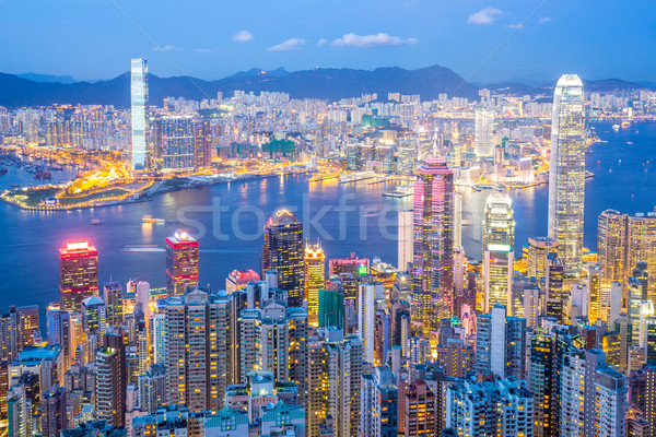 Hong Kong Skyline at Dusk Stock photo © vichie81