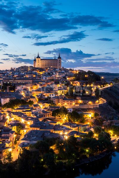 Zdjęcia stock: Zmierzch · Hiszpania · Cityscape · Madryt · domu · miasta