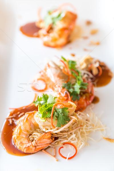 Prawn with tamarind sauce Stock photo © vichie81