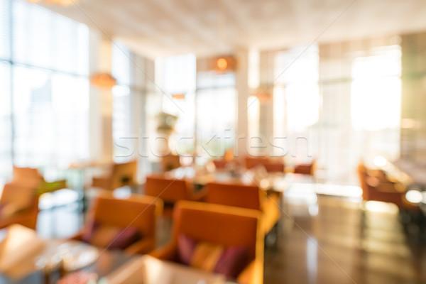 Elmosódott étterem kávézó homály bokeh étel Stock fotó © vichie81