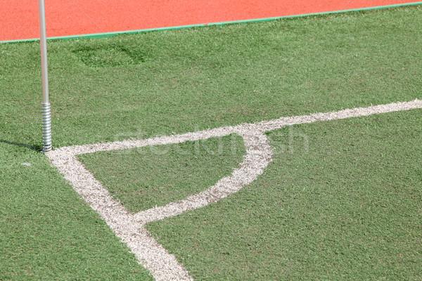 コーナー サッカー ピッチ テクスチャ 草 スポーツ ストックフォト © vichie81