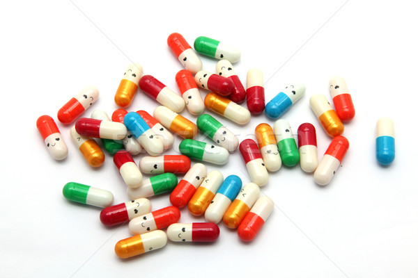 heap of smiling capsule Stock photo © vichie81