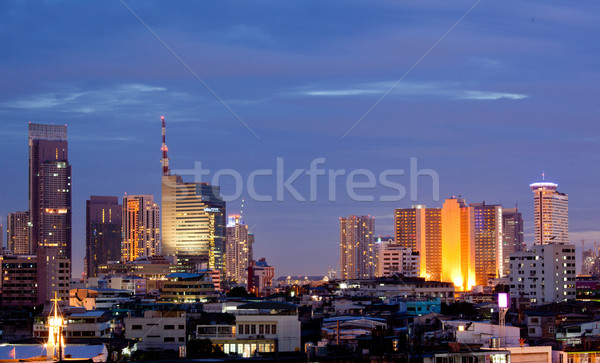 Bangkok Downtown at dusk Stock photo © vichie81