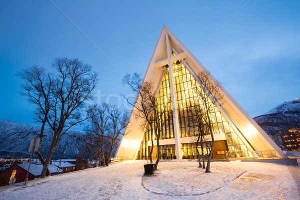 Tromso Arctic Cathedral Norway Stock photo © vichie81