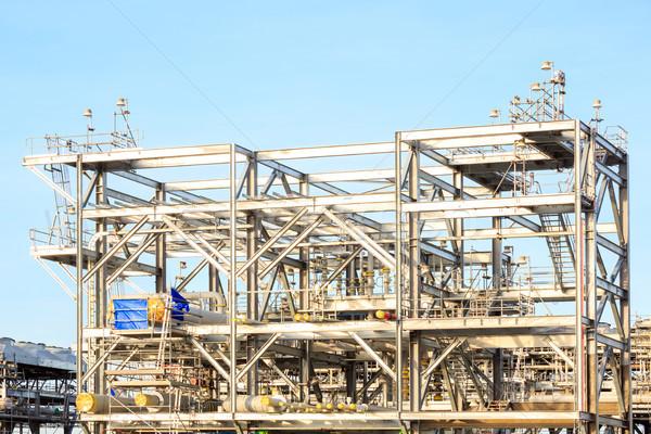 Finomító gyár földgáz olaj benzin ipar Stock fotó © vichie81