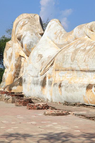 giant reclining buddha statue ruin Stock photo © vichie81