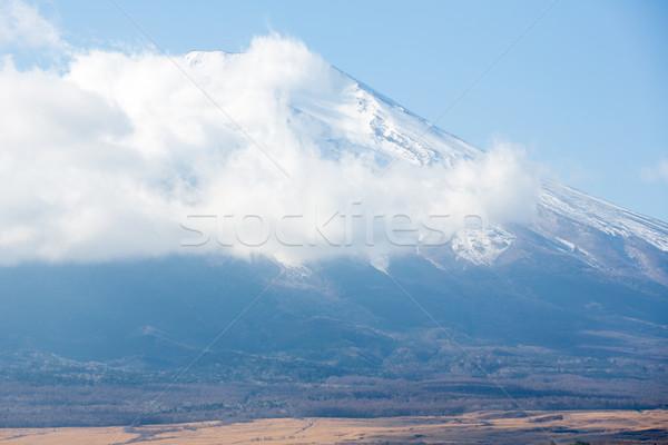 Montana fuji nublado cielo paisaje nieve Foto stock © vichie81