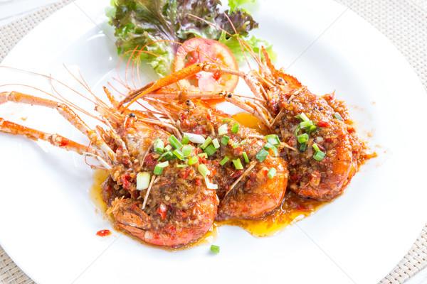 Grilled river prawn Stock photo © vichie81