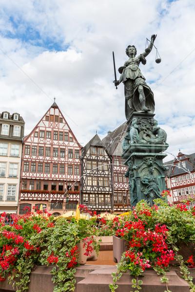 Франкфурт старый город статуя Германия архитектура небоскреба Сток-фото © vichie81