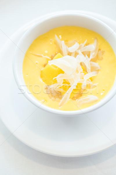 Mango pudding asian słodkie deser Zdjęcia stock © vichie81