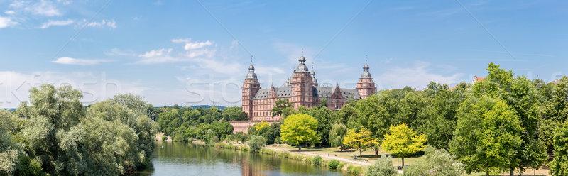дворец Панорама Франкфурт Германия дерево здании Сток-фото © vichie81