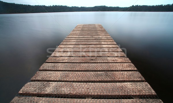 the old jetty walkway pier the the lake Stock photo © vichie81