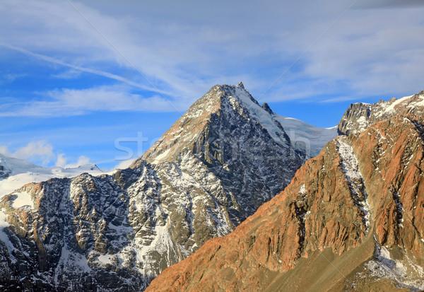 aerial view of Aoraki mount cook mountain alpine alps range in N Stock photo © vichie81