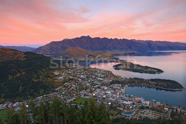 landscape of queenstown region in dusk , New Zealand Stock photo © vichie81