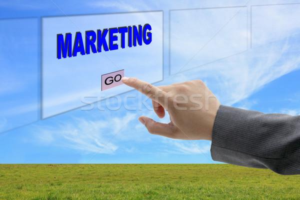 man hand push marketing Stock photo © vichie81