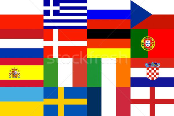 Voetbal Europa patroon voetbal 2012 beker Stockfoto © vichie81