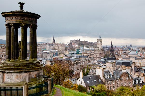 Zdjęcia stock: Edinburgh · budynku · zamek · Hill · Szkocji · drogowego