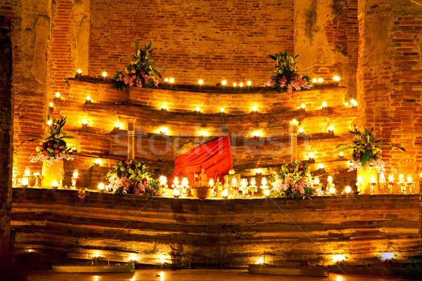 Rituale stand monastero brucia candele notte Foto d'archivio © vichie81