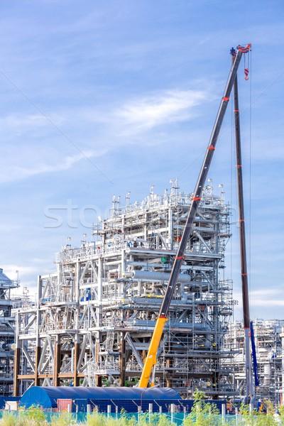 Erdgas Raffinerie Fabrik Lagerung Tank Öl Stock foto © vichie81