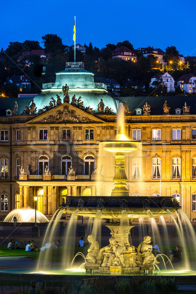 город центр Германия сумерки фонтан новых Сток-фото © vichie81